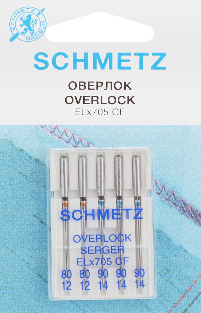 Иглы для плоскошовных машин Schmetz, №80, 90, 5 штSM 10-09Иглы Schmetz, выполненные из высококачественного металла с хромированным покрытием, предназначены для специальных бытовых оверлоков. Универсальные иглы с закругленным острием подходят для различных видов тканей. Каждая игла обозначена цветом.В комплекте пластиковый футляр для переноски и хранения. Система иглы: EL х 705.Номер иглы: 80/12; 90/14.