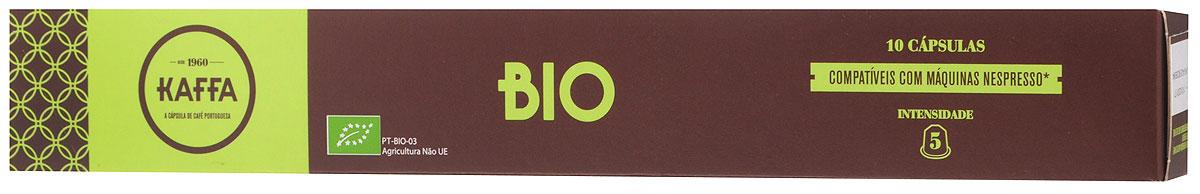 Kaffa Bio Крепость 5 кофе в капсулах, 10 шт0120710Бленд 100% Арабики Kaffa Bio обладает сбалансированным, мягким характером. Производится в ходе процессов сельскохозяйственного производства с ограниченным использованием пестицидов и химических удобрений.
