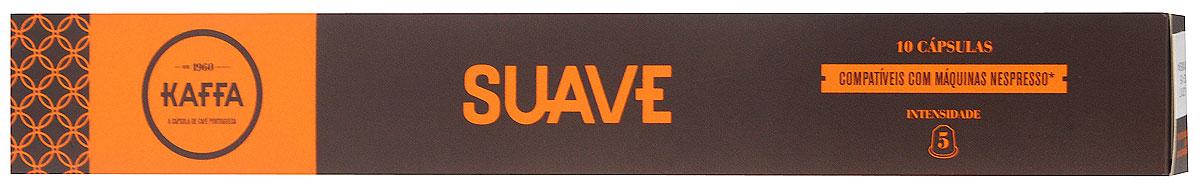Kaffa Suave Крепость 5 кофе в капсулах, 10 шт0120710Бленд Kaffa Suave состоит из 100% Арабики и отличается ароматом, деликатно усиленным за счет нюанса кислоты, типичного для 100% кофе Арабика. Характеризуется гармоничным сочетанием фруктового и цветочного ароматов.