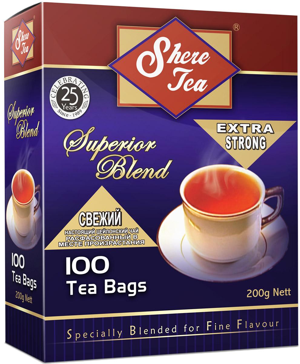 где купить  Shere Tea Superior Blend чай черный в пакетиках, 100 шт  по лучшей цене