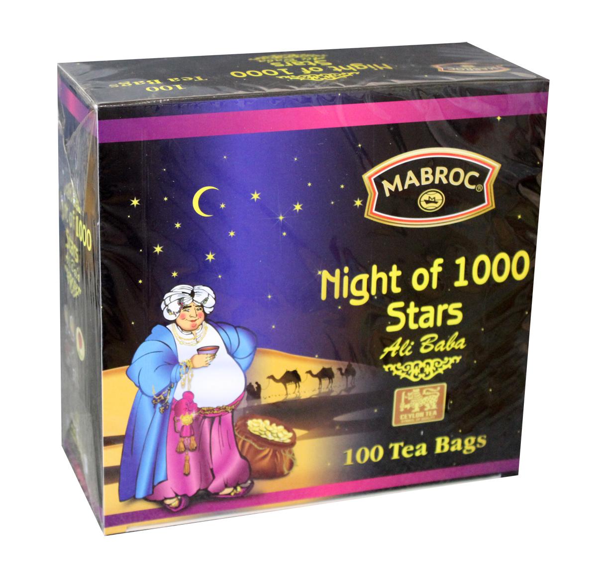Mabroc Древние легенды. Ночь 1000 звезд чай черный в пакетиках, 100 шт4791029010854Коллекция «Древние легенды», Ночь 1000 звезд (1001 ночь). Эта коллекция является визитной карточкой Маброк и включает в себя наиболее престижные, известные и дорогие сорта. Это удивительный ассортимент чаев с плантаций Маброк, со вкусом, одновременно подходящим для сибирского климата и передающий изысканный вкус Востока.Смесь черного и зеленого чай с ароматом клубники, с цветами апельсина, ноготков, лепестками роз.Это превосходное сочетание черного чая, выращенного в низинных районах Сабарагамувы, и зеленого, растущего высоко в горах Нувара Элии. Прохлада ветров и солнечного тепло, которым ласково укутаны все растения этого района дарит чаю особенный сладкий вкус, усиленный клубничной вытяжкой, лепестками розы и ноготков.
