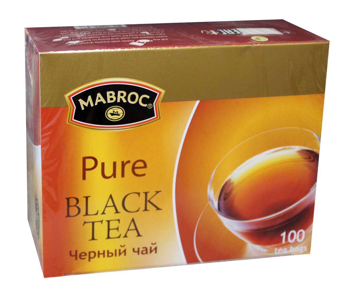Mabroc Премиум классик чай черный в пакетиках, 100 шт4791014001195Mabroc Премиум классик - это качественный чай с собственных плантаций. Его насыщенный вкус и терпкий аромат никого не оставят равнодушным. Цейлонский черный мелколистовой чай в пакетиках имеет яркий, прозрачный настой с интенсивной окраской. Быстро заваривается. Вкус терпкий с приятной горчинкой и хорошо выраженным ароматом.