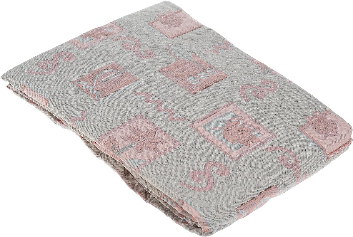 Покрывало Arya Tay-Pen, цвет: серо-бежевый, розовый, 240 х 170 см. 1062_85ES-412Покрывало Arya Tay-Pen прекрасно оформит интерьер спальни или гостиной. Изделие изготовлено из 100% полиэстера. Жаккардовые покрывала уникальны, так как они практичны и универсальны в использовании. Жаккардовые ткани хорошо сохраняют окраску, слабо подвержены влиянию перепадов температур. Своеобразный рельефный рисунок, который получается в результате сложного переплетения на плотной ткани, напоминает гобелен. Изделие долговечно, надежно и легко стирается. Покрывало Arya Tay-Pen не только подарит тепло, но и гармонично впишется в интерьер вашего дома.