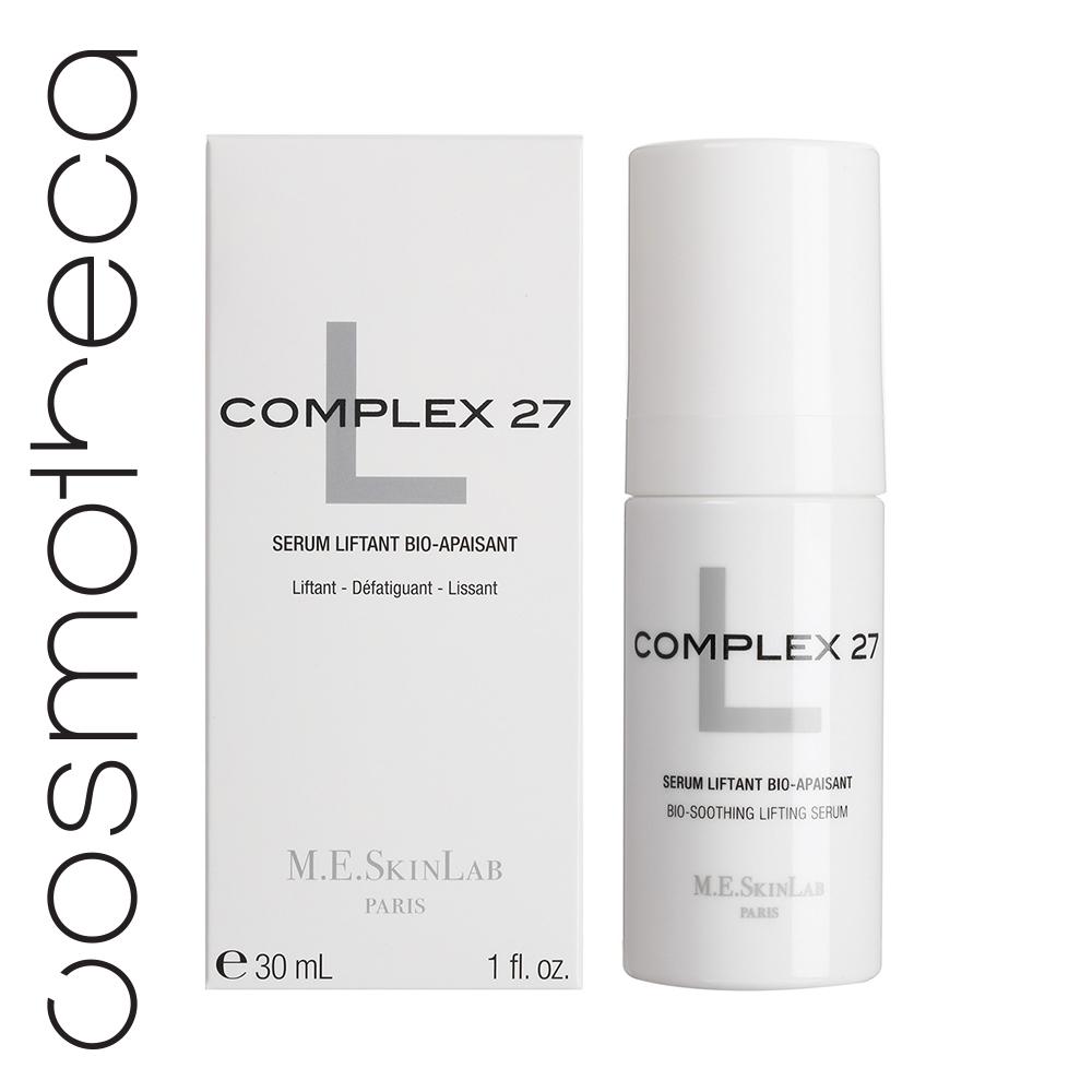 Cosmetics 27 Био-успокаивающая лифтинг сыворотка Complex 27 L 30 млFS-00897• Успокаивает чувствительную и реактивную кожу.• Разглаживает кожу, более четкие черты лица• Лифтинг и возвращение объемов• Увлажнение, эластичность и сияние• 56% концентрированных активовИСПОЛЬЗОВАНИЕ• Уставшая, дряблая кожа, подверженная стрессу• Небольшие раздражения, реактивность кожи, покраснения• Потеря тонуса, видимые морщины• После эстетического воздействияРЕЗУЛЬТАТЫ:• Кожа более упругая и мягкая, раздражение снято• Увлажненная и мягкая кожа, гладкая на вид, тонус возвращен, черты более четкие• Отсутствуют видимые признаки стресса