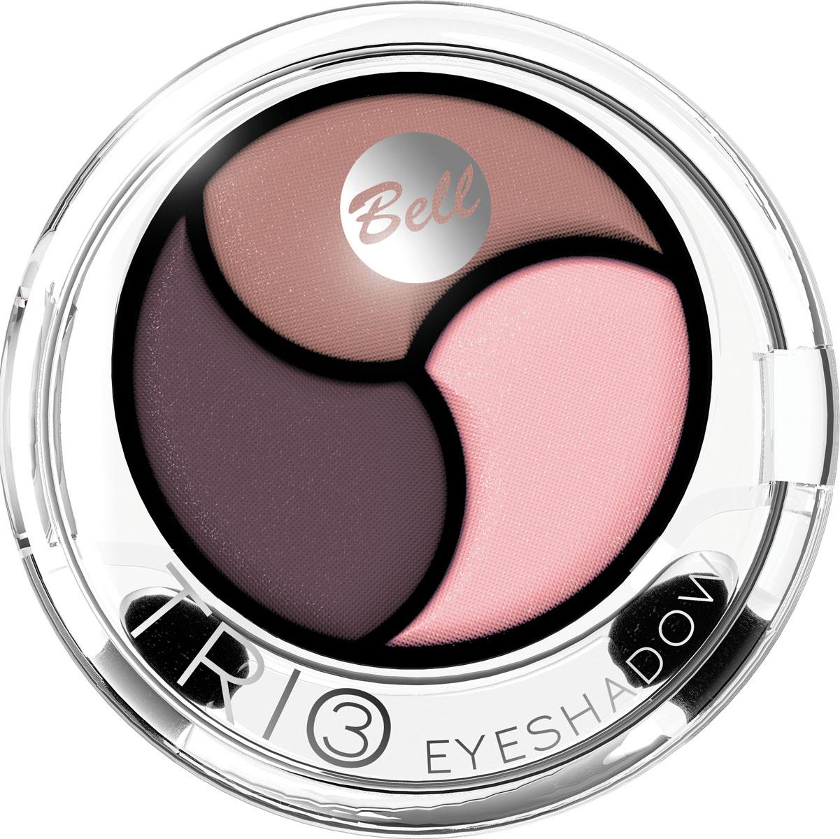 Bell Тени для век 3х Цветные Trio Eyeshadow 4 гр5010777139655Инновационная технология обеспечивает насыщенность цвета, удобство аппликации, а также необыкновенную стойкость.Тени содержат пигменты, которые находятся в капсуле с маслом жожоба, обладающим увлажняющими свойствами, гарантируя кремовый эффект. Тени представлены в шести цветовых наборах, которые позволят создать идеальный макияж глаз. Тон 3