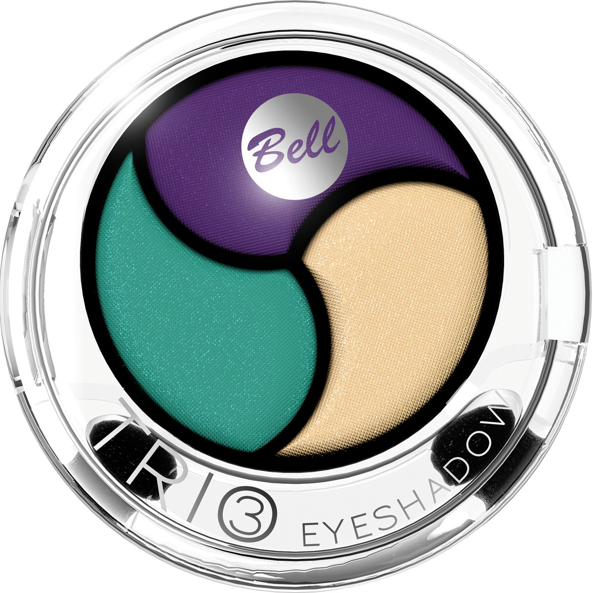 Bell Тени для век 3х Цветные Trio Eyeshadow 4 гр1301210Инновационная технология обеспечивает насыщенность цвета, удобство аппликации, а также необыкновенную стойкость.Тени содержат пигменты, которые находятся в капсуле с маслом жожоба, обладающим увлажняющими свойствами, гарантируя кремовый эффект. Тени представлены в шести цветовых наборах, которые позволят создать идеальный макияж глаз. Тон 4