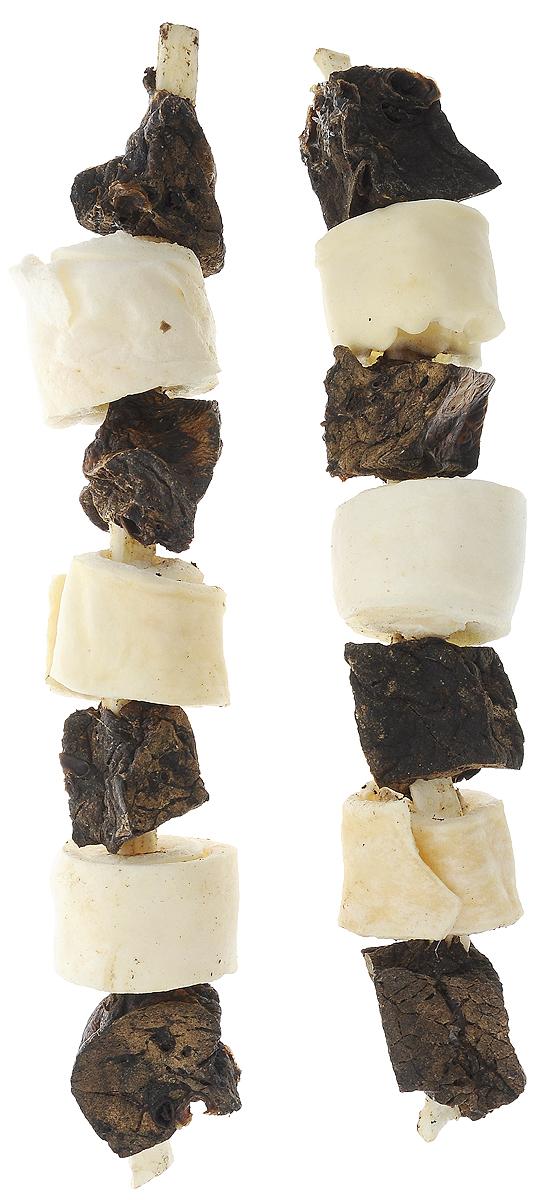 Лакомство для собак Titbit Лакомый кусочек, шашлычок говяжий, 2 шт00000000085Лакомство для собак Titbit Лакомый кусочек - это натуральный продукт, приготовленный из говядины, который обязательно понравится вашему любимцу. Лакомство не только вкусное, но и полезное. Оно удаляет зубной налет, предотвращает образование зубного камня, массирует десны. Кроме того, улучшает пищеварение и перистальтику кишечника. Теперь собака будет грызть лакомство, а не вашу мебель и обувь. Товар сертифицирован.