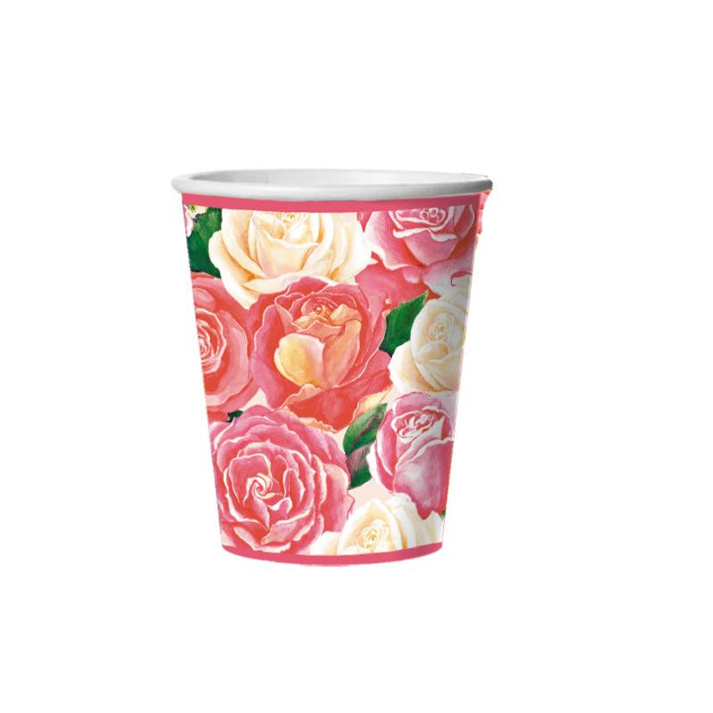 Набор одноразовых стаканов Bulgaree Green Розовый букет, 0,25 л, 10 шт2771Набор одноразовых картонных стаканчиков с ярким принтом подойдет для сервировки стола на любой праздник. Объем стакана: 250 мл. В наборе 10 штук.