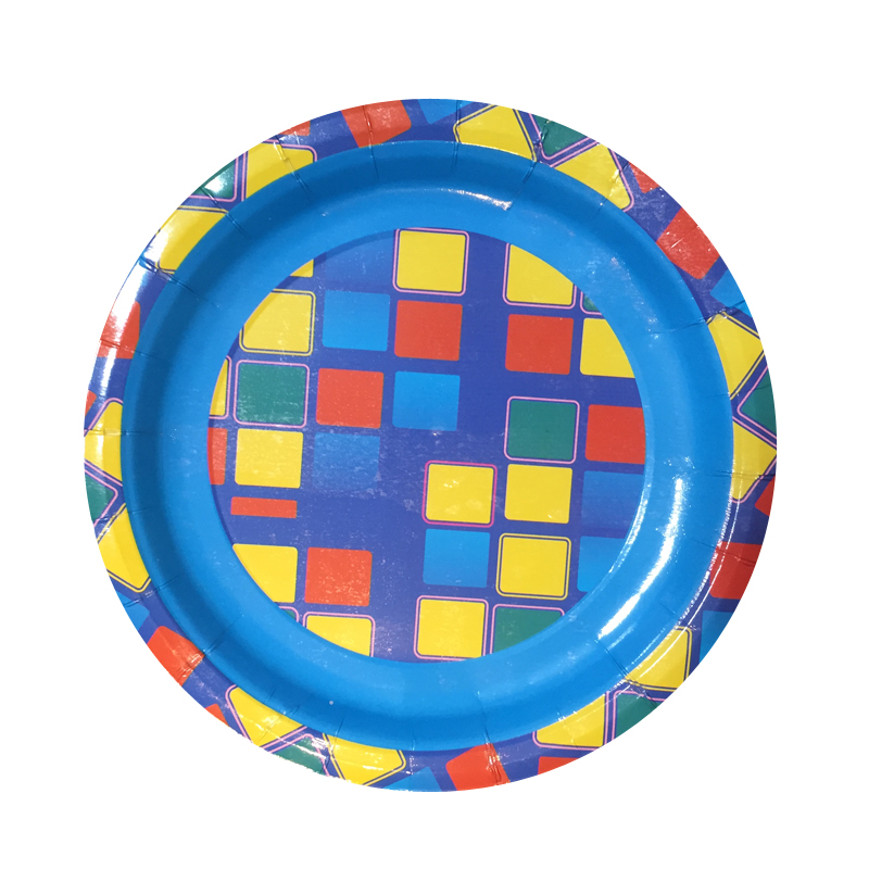 "Набор одноразовых десертных тарелок Bulgaree Green ""Арлекин"", диаметр 18 см, 10 шт"