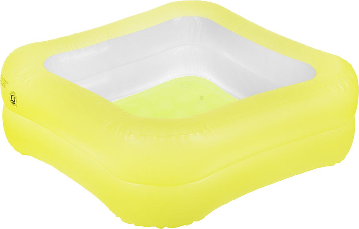 Бассейн надувной Jilong Square Baby, цвет: желтый, белый, 83 х 83 x 27 смJL017393NPF_желтыйДетский надувной бассейн Jilong Square Baby будет просто незаменим в летний жаркий день на даче. Бассейн выполнен из прочного ПВХ. Упругие стенки представляют собой 2 прочных кольца. Надувное дно обеспечивает ребенку комфорт. Яркий дизайн бассейна сделает его не только незаменимым атрибутом летнего отдыха, но и дополнением ландшафтного дизайна участка. В комплект входит самоклеющаяся заплатка. Рекомендуемый возраст: 3-6 лет. Рекомендуемый вес пользователя: 18-30 кг. Обращаем ваше внимание на тот факт, что бассейн поставляется в сдутом виде и надувается при помощи насоса (не входит в комплект).