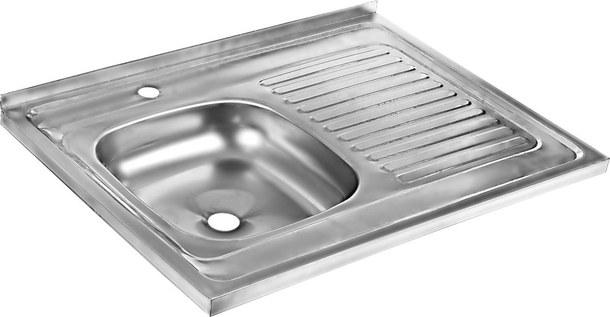 Мойка накладная Betanox, с правым крылом, 80 х 60 смREE61SLi77Накладная мойка Betanox выполнена из высококачественной нержавеющей стали. Изделие оснащено правым крылом, на котором можно разместить посуду, чтобы с нее стекала вода.Сифон и крепеж не входят в комплект.Толщина стали: 0,6 мм.