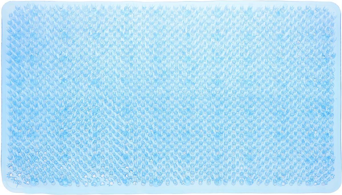 Коврик для ванной Vortex Травка, противоскользящий, цвет: голубой, 65 х 36 см531-105Коврик Vortex Травка, изготовленный из ПВХ, предназначен для использования в ванной комнате и душевой кабине против скольжения. Коврик крепится на дно ванны с помощью небольших присосок. Благодаря рельефной поверхности, коврик предотвращает скольжение и исключает возможность падения в ванне.