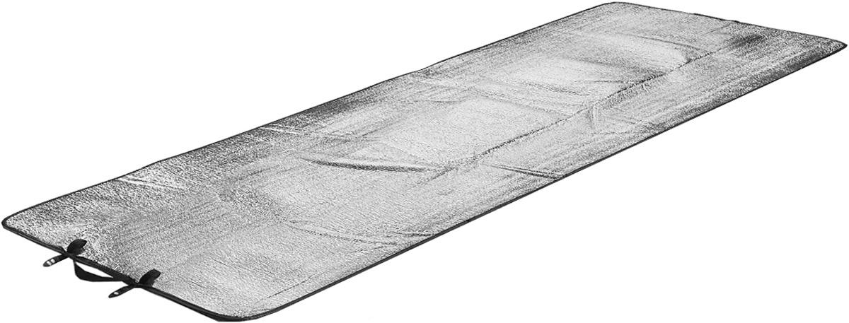 Коврик туристический High Peak Alumatte Single, цвет: серый металлик, 190 х 60 х 0,2 см06SVXT01CТуристический коврик High Peak Alumatte Single очень легкий, изолирует от холода, компактный, непромокаемый. Он станет необходимым атрибутом любого туристического похода, выездов за город, рыбалки. Коврик выполнен из высококачественного полиэтилена и алюминиевой фольги. Встроенная система застежки позволяет компактно свернуть коврик и разместить его внутри или снаружи рюкзака.