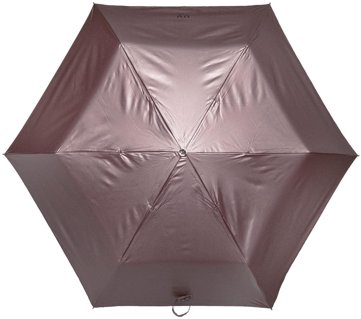 Зонт женский Эврика Звездное небо, механика, 3 сложения, цвет: тауп, черный. 96795Колье (короткие одноярусные бусы)Оригинальный зонт Эврика не оставит вас незамеченной. С внешней стороны купол оформлен с металлическим оттенком, а с внутренней - в виде черного неба с созвездиями.Стержень изделия изготовлен из металла. Купол выполнен из качественного нейлона, который не пропускает воду. Зонт состоит из шести спиц, изготовленных из металла с элементами из пластика и пластиковой ручки. Зонт имеет механический способ сложения: и купол, и стержень открываются вручную до характерного щелчка. Ручка дополнена петлей, благодаря которой зонт можно носить на запястье. К зонту прилагается чехол. Благодаря своему небольшому размеру, зонт легко пометится в сумку. Раскрыв зонт можно увидеть внутри ночное небо с созвездиями. Зонт-планетарий станет отличным подарком и надежной защитой от непогоды.