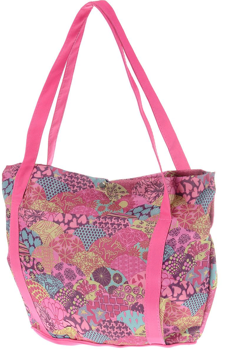 Сумка-переноска Elite Valley, цвет: розовый, фиолетовый, бордовый, 33 х 14,5 х 33 см0120710Сумка-переноска Elite Valley для собак мелких пород и кошек отлично подойдет для комфортной транспортировки. На переноске с двух сторон находятся карманы, закрепленные на липучке. Внутри сумки находится косметичка, прикрепленная к ремешку с металлическим карабином. Она подойдет для хранения различных аксессуаров как хозяйки, так и питомца. Сумка закрывается на металлическую клепку и оснащена двумя прочными ручками. Такая яркая и стильная сумка-переноска обязательно понравится вам и вашему питомцу.