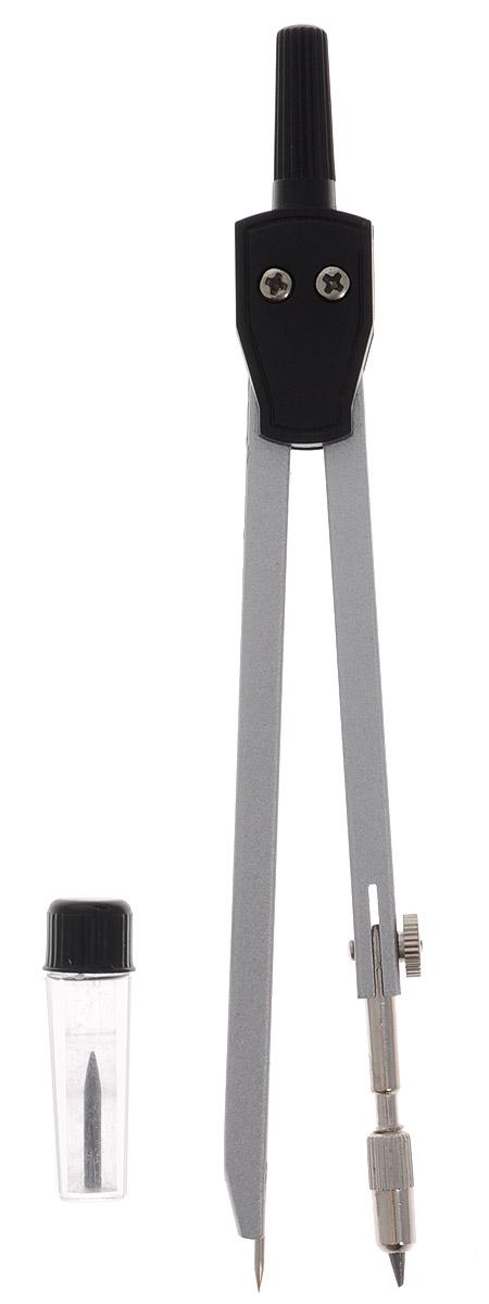 Perfecta Готовальня School 2 предмета цвет серебристыйPZEH-05CM_голубойГотовальня с малым циркулем Perfecta School предназначена для учащихся младших и средних классов.Циркуль выполнен из металлических деталей, имеет негнущееся колено и фиксированную иглу. Запасной грифель в контейнере.Готовальня упакована в пластиковый футляр с прозрачной крышкой.