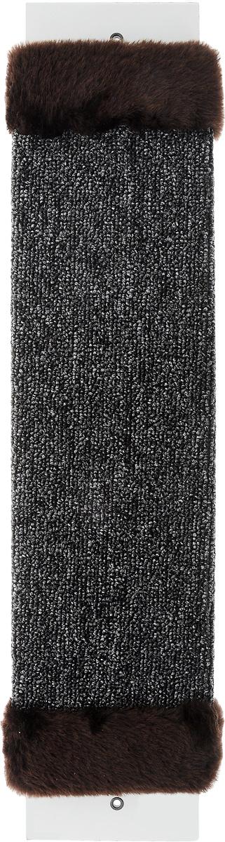 Когтеточка ЗооМарк, настенная, цвет: темно-коричневый, темно-серый, 57 х 13 х 3,5 см002_серый, бежевыйНастенная когтеточка ЗооМарк предназначена для стачивания когтей вашей кошки и предотвращения их врастания. Волокна ковролина обеспечивают естественный уход за когтями питомца. Когтеточка позволяет сохранить неповрежденными мебель и другие предметы интерьера.Длина когтеточки: 57 см.Длина рабочей части: 48 см.