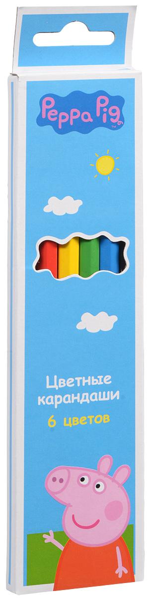 Peppa Pig Набор карандашей Свинка Пеппа 6 цветов72523WDЯркие карандаши ТМ Свинка Пеппа помогут маленьким художникам создавать красивые картинки, а любимые герои вдохновят малышей на новые интересные идеи. В набор входит 6 цветных мягких и одновременно прочных карандашей, идеально подходящих для рисования, письма и раскрашивания. Яркие линии получаются без сильного нажима. Благодаря высококачественной древесине, карандаши легко затачиваются. Прочный грифель не крошится при падении и не ломается при заточке. Состав: древесина, цветной грифель. Срок годности не ограничен.