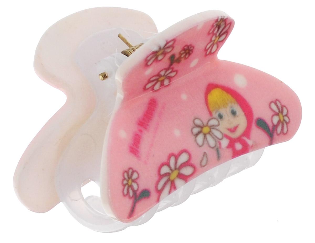 Маша и Медведь Заколка-краб для волос Ромашки цвет розовый542955Заколка-краб для волос Маша и Медведь Ромашки выполнена из качественного пластика розового цвета с надежным зажимным механизмом.Заколка декорирована ромашками и изображением главной героини мультфильма Маша и Медведь. Оригинальность и удобство заколки-краба для волос делают ее практичным и модным аксессуаром.