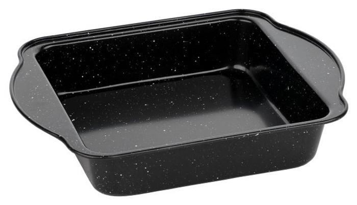 Форма для запекания Walmer Black Marble, 27 х 22 х 5 смк602/апПрямоугольная форма для выпечки Walmer Black Marbler, выполненная из высококачественной углеродистой стали, гарантирует великолепный результат. Материал корпуса, эффективность которого усилена вкраплениями дополнительного слоя твердых частиц, обеспечивает максимальную теплоотдачу, экономя время приготовления. Двухслойное антипригарное покрытие Xynflon полностью безопасно и не выделяет вредных веществ при нагреве. Форма имеет эргономичные ручки. Можно мыть в посудомоечной машине.