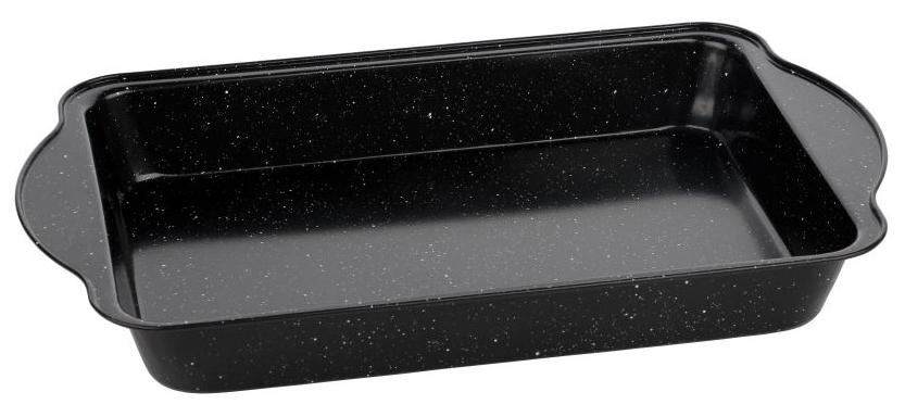 Форма для запекания Walmer Black Marble, 40,5 х 25,5 х 5,5 см391602Прямоугольная форма для выпечки Walmer Black Marbler, выполненная из высококачественной углеродистой стали, гарантирует великолепный результат. Материал корпуса, эффективность которого усилена вкраплениями дополнительного слоя твердых частиц, обеспечивает максимальную теплоотдачу, экономя время приготовления. Двухслойное антипригарное покрытие Xynflon полностью безопасно и не выделяет вредных веществ при нагреве. Форма имеет эргономичные ручки. Можно мыть в посудомоечной машине.