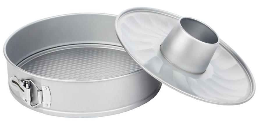 Форма для выпечки Walmer Silver, разъемная, со сменным дном, диаметр 26 см391602Разъемная форма для выпечки Walmer Silver, выполненная из высококачественной углеродистой стали, гарантирует великолепный результат. Материал корпуса обеспечивает максимальную теплоотдачу, экономя время приготовления. Двухслойное антипригарное покрытие Xynflon полностью безопасно и не выделяет вредных веществ при нагреве. Изделие оснащено разъемным механизмом, благодаря которому готовое блюдо очень легко вынимать. В комплект также входит второе съемное дно с выемкой для приготовления кекса.Можно мыть в посудомоечной машине.