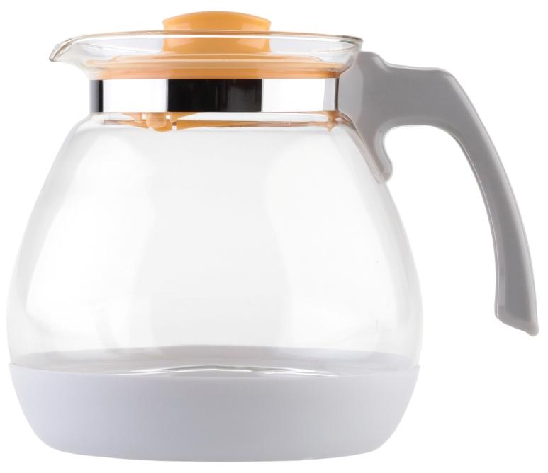 Чайник заварочный Walmer Lime, цвет: желтый, 1,7 лVT-1520(SR)Заварочный чайник Walmer Lime выполнен из высококачественной стекла. Благодаря фильтру в пластиковой крышке ни чаинки, ни кусочки фруктов не попадут в чашку. Съемная пластиковая подставка защищает корпус чайника от случайных ударов о поверхность стола. Крышка закрывается плотно, вы сможете наклонять чайник как угодно, она не выпадет. Такой заварочный чайник придется по вкусу и ценителям классики, и тем, кто предпочитает утонченность и изысканность.Диаметр по верхнему краю: 10 см. Высота чайника (без учета крышки): 15,8 см.Высота чайника (с учетом крышки): 16 см.