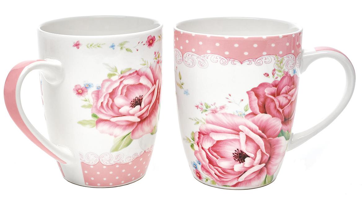Набор кружек Walmer Roses, 340 мл, 2 шт115510Набор кружек Walmer Roses, выполненный из костяного фарфора, состоит из двух кружек одинакового объема. Каждая кружка оформлена нежным цветочным рисунком и дополнена эргономичной ручкой. Набор кружек Walmer Roses не только порадует своей практичностью, но и станет приятным сувениром для ваших близких. А оригинальное оформление набора добавит ярких эмоций.