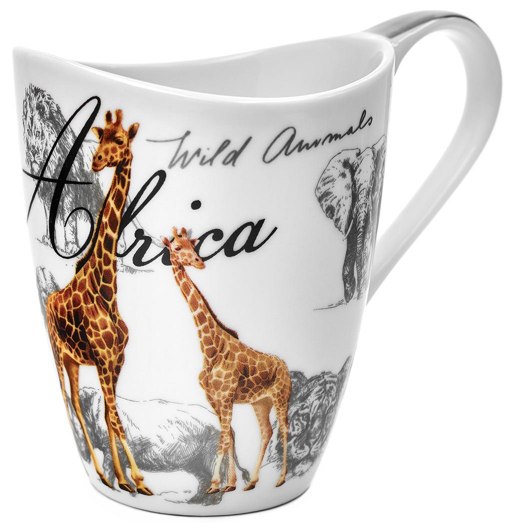 Кружка Walmer Giraffe, 420 мл54 009312Кружка Walmer Giraffe, выполненная из костяного фарфора, обладает необычной формой и увеличенным объемом, который подойдет для большого чаепития.Изделие дополнено эргономичной ручкой.Такой подарок не только порадует своей практичностью, но и станет приятным сувениром для ваших близких. А оригинальное оформление кружки добавит ярких эмоций.