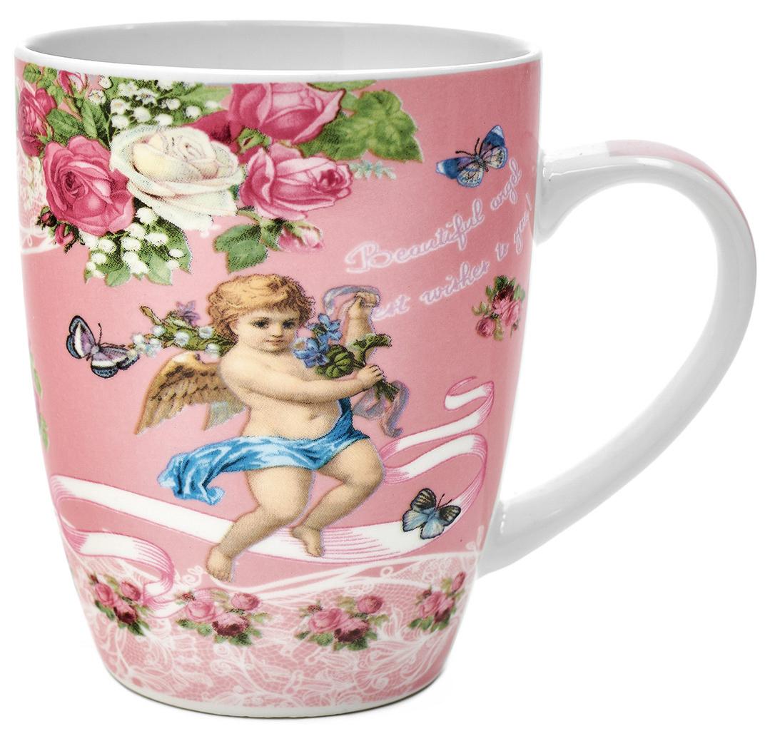 Кружка Walmer Angels, цвет: розовый, 340 млW16061034Кружка Walmer Angels, выполненная из костяного фарфора, станет отличным тематическим сувениром на День Ангела или крещение ребенка. Такой подарок будет напоминать о радостном событии долгие годы.Изделие дополнено эргономичной ручкой.Такой подарок не только порадует своей практичностью, но и станет приятным сувениром для ваших близких. А оригинальное оформление кружки добавит ярких эмоций.