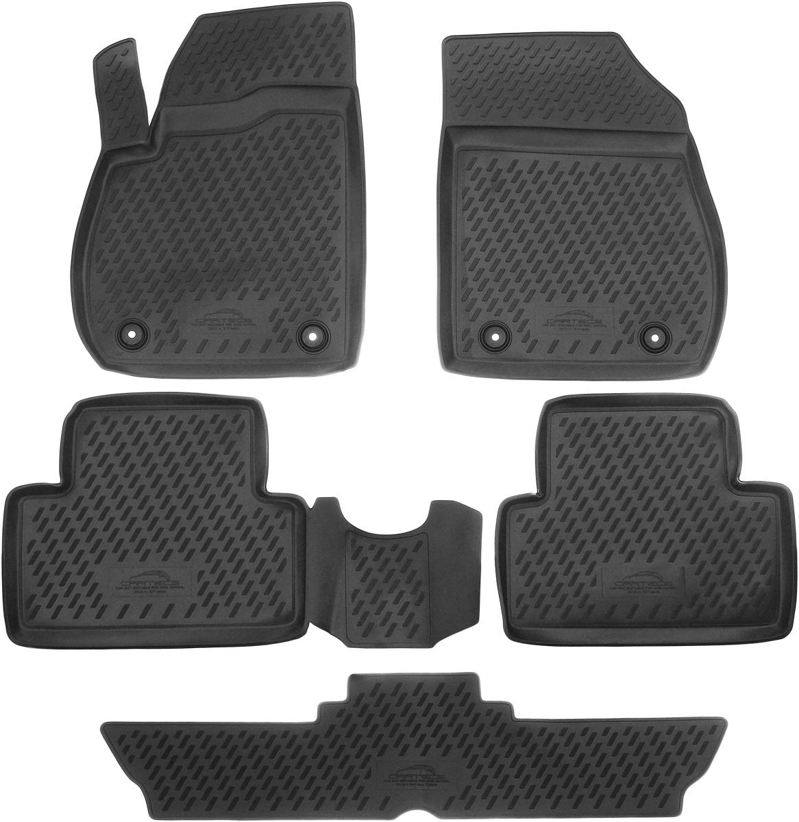 Коврики в салон автомобиля Novline-Autofamily, для Opel Zafira 2012-> 7 мест, 5 штNLT.36.37.22.110khКоврики в салон Novline-Autofamily не только улучшат внешний вид салона вашего автомобиля, но и надежно уберегут его от пыли, грязи и сырости, а значит, защитят кузов от коррозии. Полиуретановые коврики для автомобиля гладкие, приятные и не пропускают влагу. Автомобильные коврики в салон учитывают все особенности каждой модели и полностью повторяют контуры пола. Благодаря этому их не нужно будет подгибать или обрезать. И самое главное - они не будут мешать педалям.Полиуретановые автомобильные коврики для салона произведены из высококачественного материала, который держит форму и не пачкает обувь. К тому же, этот материал очень прочный (его, к примеру, не получится проткнуть каблуком).Некоторые автоковрики становятся источником неприятного запаха в автомобиле. С полиуретановыми ковриками Novline-Autofamily вы можете этого не бояться.Коврики для автомобилей надежно крепятся на полу и не скользят, что очень важно во время движения, особенно для водителя.Коврики из полиуретана надежно удерживают грязь и влагу, при этом всегда выглядят довольно опрятно. И чистятся они очень просто: как при помощи автомобильного пылесоса, так и различными моющими средствами.
