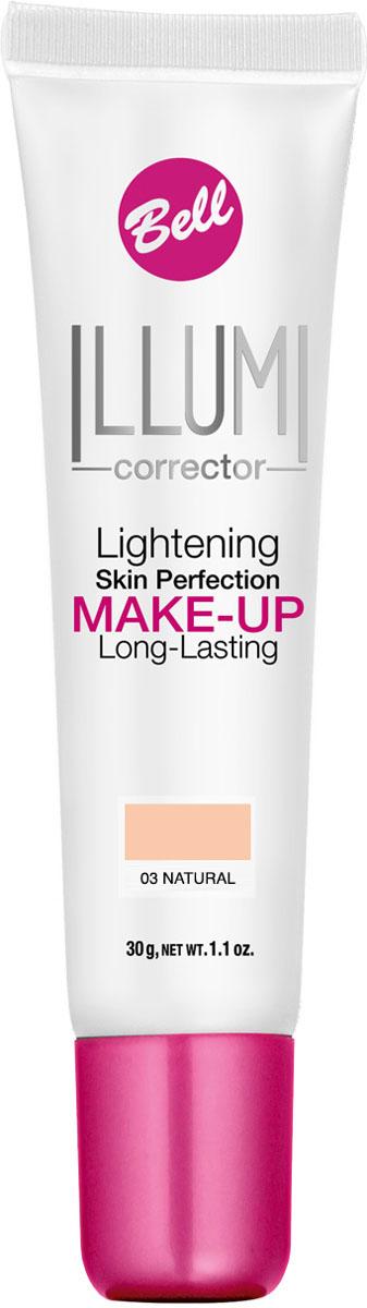 Bell Флюид суперстойкий корректирующий и придающий сияние Illumi Lightening Skin Perfection Make-up 30 грSatin Hair 7 BR730MNФлюид значительно улучшает состояние кожи лица, придавая здоровый вид и естественное сияние серой и усталой коже. Редуцирует покраснения, устраняет мелкие недостатки кожи, придает коже ровный тон. Содержит UVA и UVB фильтры, защищающие кожу от вредного действия солнечных лучей.Здоровый вид и естественное сияние для кожи.Способ применения: Нанести тонким слоем на кожу лица