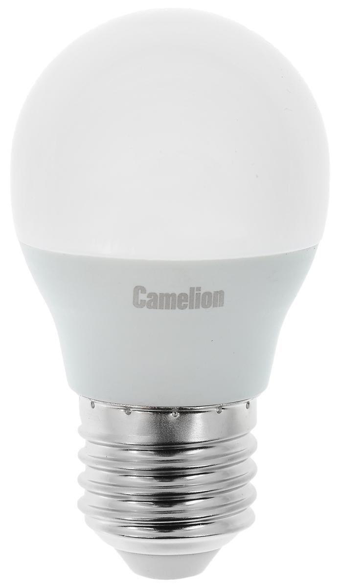 Лампа светодиодная Camelion, теплый свет, цоколь Е27, 7W. 12070C0027366Светодиодная лампа Camelion - это инновационное решение, разработанное на основе новейших светодиодных технологий (LED) для эффективной замены любых видов галогенных или обыкновенных ламп накаливания во всех типах осветительных приборов. Она хорошо подойдет для освещения квартир, гостиниц и ресторанов. Лампа не содержит ртути и других вредных веществ, экологически безопасна и не требует утилизации, не выделяет при работе ультрафиолетовое и инфракрасное излучение. Напряжение: 220-240 В / 50 Гц. Индекс цветопередачи (Ra): 77+.Угол светового пучка: 220°. Использовать при температуре: от -30° до +40°.