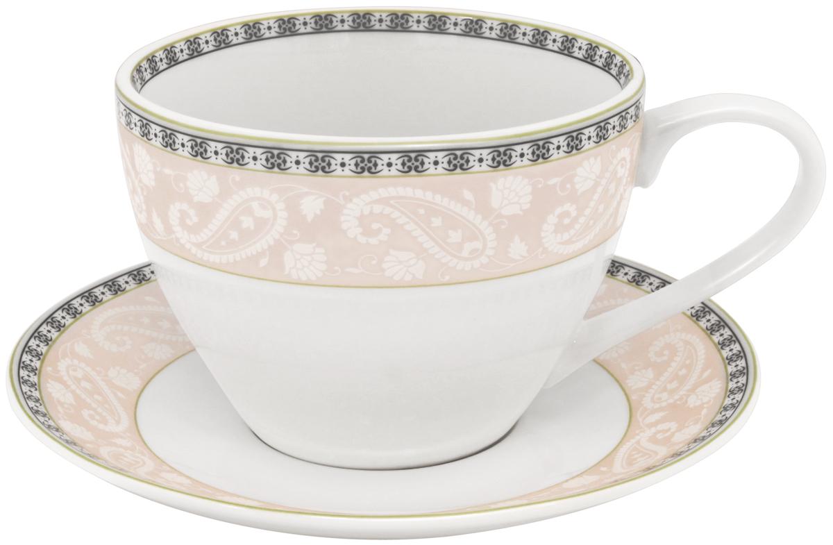 Набор чайный Esprado Arista Rose, 12 предметов115510Чайный набор Esprado Arista Rose состоит из шести чашек и шести блюдец, изготовленных из высококачественного костяного фарфора. Над созданием дизайна коллекций посуды из фарфора Esprado работает международная команда высококлассных дизайнеров, не только воплощающих в жизнь все новейшие тренды, но также и придерживающихся многовековых традиций при создании классических коллекций. Посуда из костяного фарфора будет идеальным выбором, для тех, кто предпочитает красивую современную посуду из высококачественного материала, которая отличается высокой прочностью и подходит для ежедневного использования. Посуда из коллекции Arista Rose прекрасно подойдет для уютного домашнего ужина, придав ему легкий оттенок торжественности. Тонкий огуречный узор в сочетании с нежным розовым цветом создает ощущение мягкости и тепла. Можно использовать в микроволновки печи и мыть в посудомоечной машине.