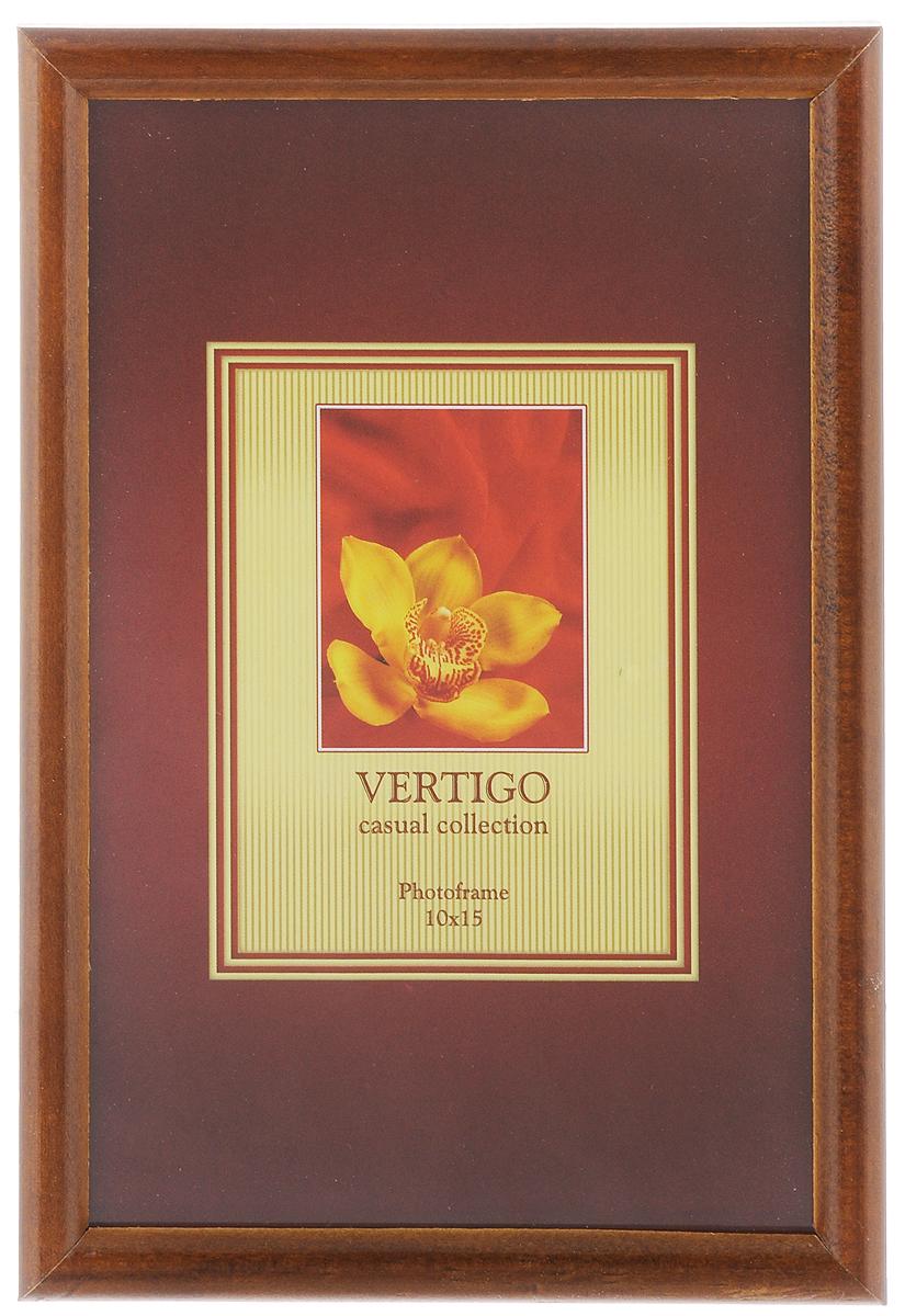 Фоторамка Vertigo Veneto, цвет: темно-коричневый, 10 х 15 см230261Фоторамка Vertigo Veneto выполнена из дерева и стекла, защищающего фотографию. Оборотная сторона рамки оснащена специальной ножкой, благодаря которой ее можно поставить в любое удобное место в доме или офисе. Также изделие оснащено специальными металлическими петлями для подвешивания на стену.Такая фоторамка поможет вам оригинально и стильно дополнить интерьер помещения, а также позволит сохранить память о дорогих вам людях и интересных событиях вашей жизни.