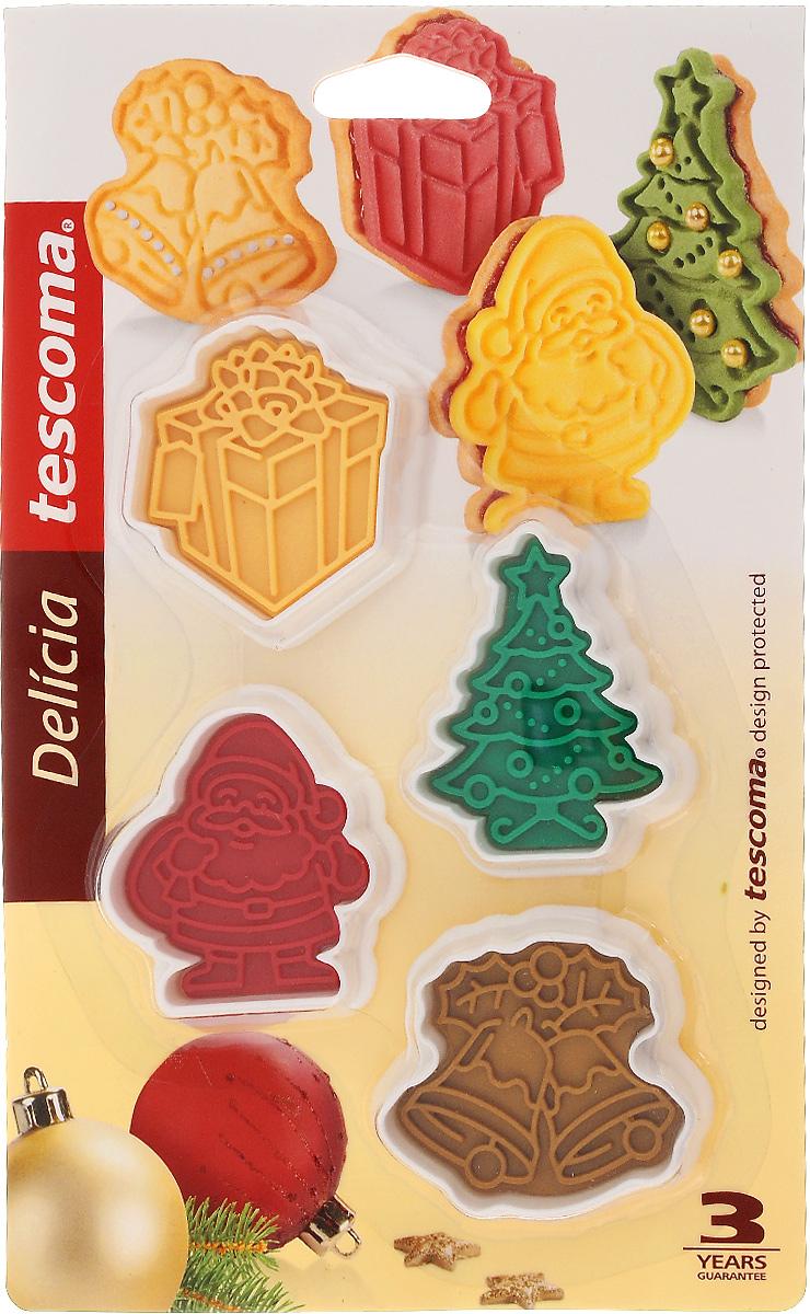 Пресс-форма для печенья Tescoma Delicia. Рождественские, 4 шт54 009312Пресс-форма для печенья Tescoma Delicia. Рождественские выполнена из высококачественного прочного пластика. С такой формой легко не только вырезать фигурное тесто для приготовления домашнего печенья, но и сделать рисунок с помощью специальной печати и приготовить домашнее праздничное печенье.Можно мыть в посудомоечной машине. Средний размер формы: 5,5 х 6 см.