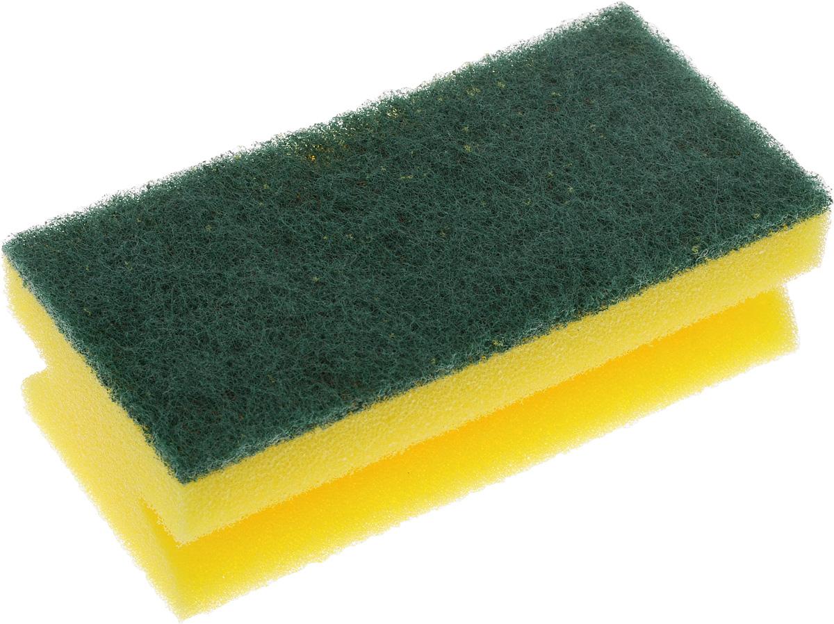 Губка для уборки Paterra Aktiv, 13 х 6,5 х 4,4 смSATURN CANCARDГубка для уборки Paterra Aktiv предназначена для уборки помещений и сантехники. Не подходит для деликатных поверхностей (стеклокерамики и акрила). Поролон повышенной плотности, из которого состоит губка, не деформируется и не крошится при нагрузках, обеспечивает обильную пену при минимальном расходе моющего средства. Прочный абразивный материал не загрязняется в процессе использования, отлично вымывается водой. Губка отлично справляется со стойкими следами грязи, застарелыми пятнами и известковым налетом. Губка имеет специальный клеевой шов, не позволяющий абразивному слою и поролону отслаиваться в процессе использования. Боковые вырезы сохраняют маникюр и обеспечивают удобный захват рукой. Губка служит в 2-2,5 раза дольше за счет поролона повышенной жесткости и абразива высокого качества.