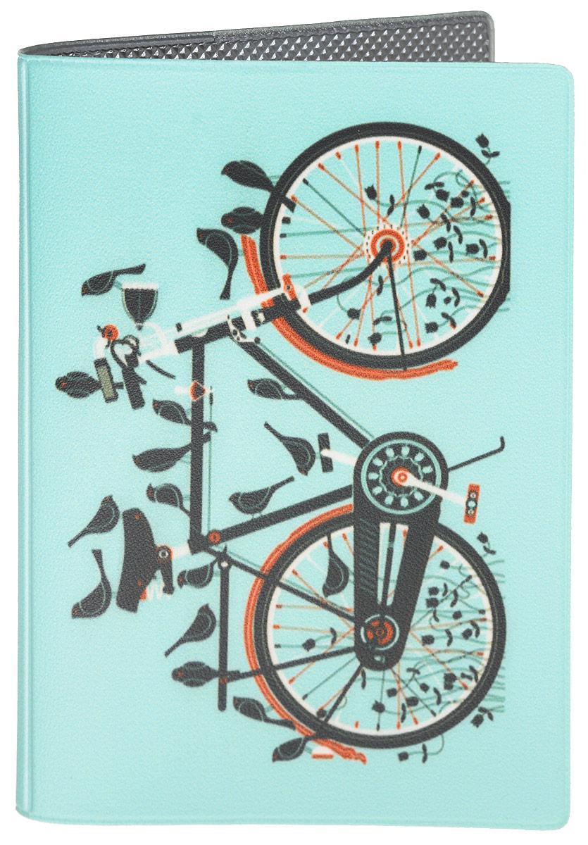 Обложка для паспорта Mitya Veselkov Велосипед, цвет: мятный. OZAM13541580Обложка для паспорта Mitya Veselkov Велик не только поможет сохранить внешний вид ваших документов и защитить их от повреждений, но и станет стильным аксессуаром, идеально подходящим вашему образу.Она выполнена из поливинилхлорида, внутри имеет два вертикальных кармашка из прозрачного пластика.Такая обложка поможет вам подчеркнуть свою индивидуальность и неповторимость!Обложка для паспорта стильного дизайна может быть достойным и оригинальным подарком.