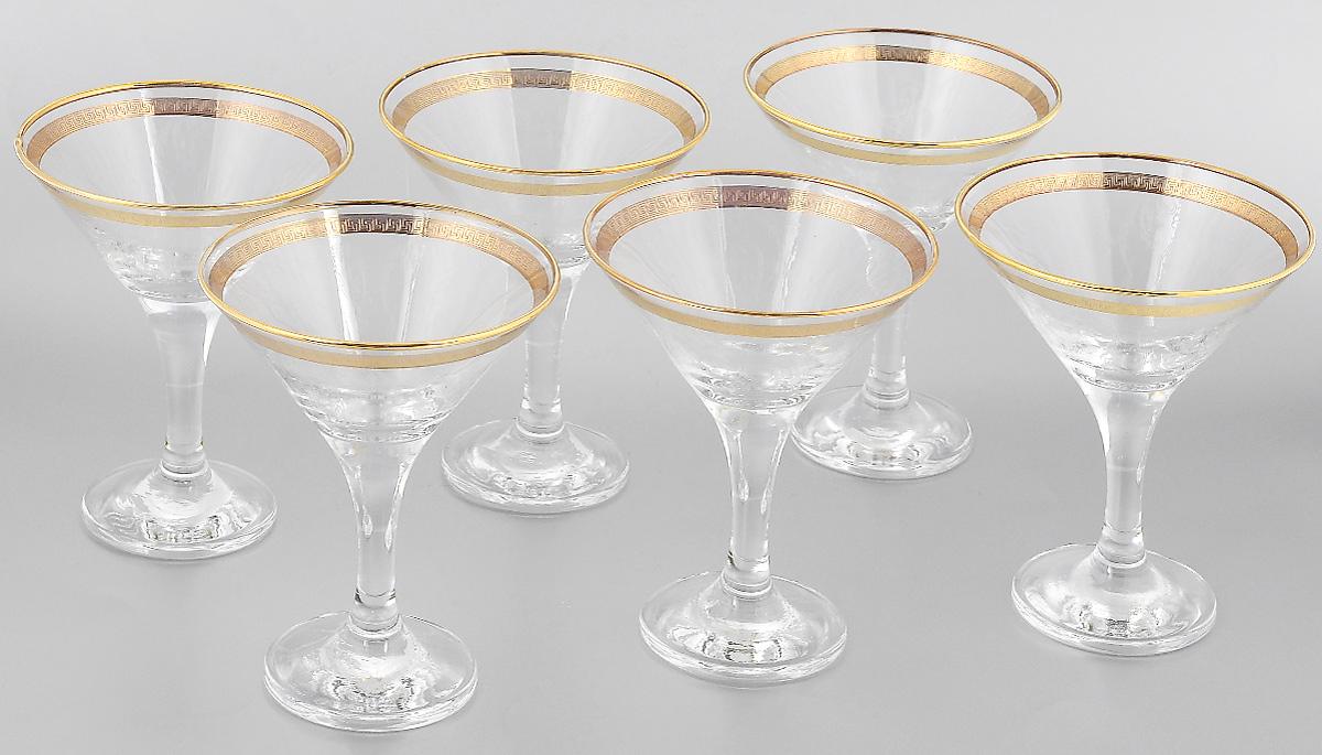 Набор бокалов для мартини Гусь-Хрустальный Каскад, 170 мл, 6 штVT-1520(SR)Набор Гусь-Хрустальный Каскад состоит из 6 бокалов, изготовленных из высококачественного стекла. Изделия предназначены для подачи мартини. Такой набор прекрасно дополнит праздничный стол и станет желанным подарком в любом доме. Разрешается мыть в посудомоечной машине. Диаметр бокала (по верхнему краю): 10,5 см. Высота бокала: 13,7 см. Диаметр основания бокала: 6,5 см.Уважаемые клиенты! Обращаем ваше внимание на незначительные изменения в дизайне товара, допускаемые производителем. Поставка осуществляется в зависимости от наличия на складе.