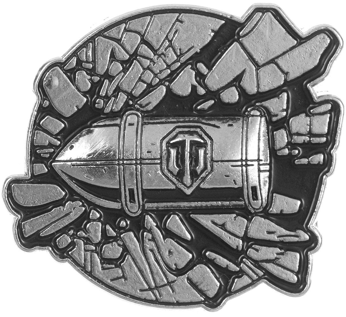 Значок World of Tanks Снаряд, цвет: серебряный. 1420RG-D31SЗначок Снаряд от World of Tanks изготовлен из цинкового сплава и оформлен объемным изображением летящего снаряда. Изделие крепится с помощью застежки-гвоздика.Значок - это важный аксессуар истинного игрока.