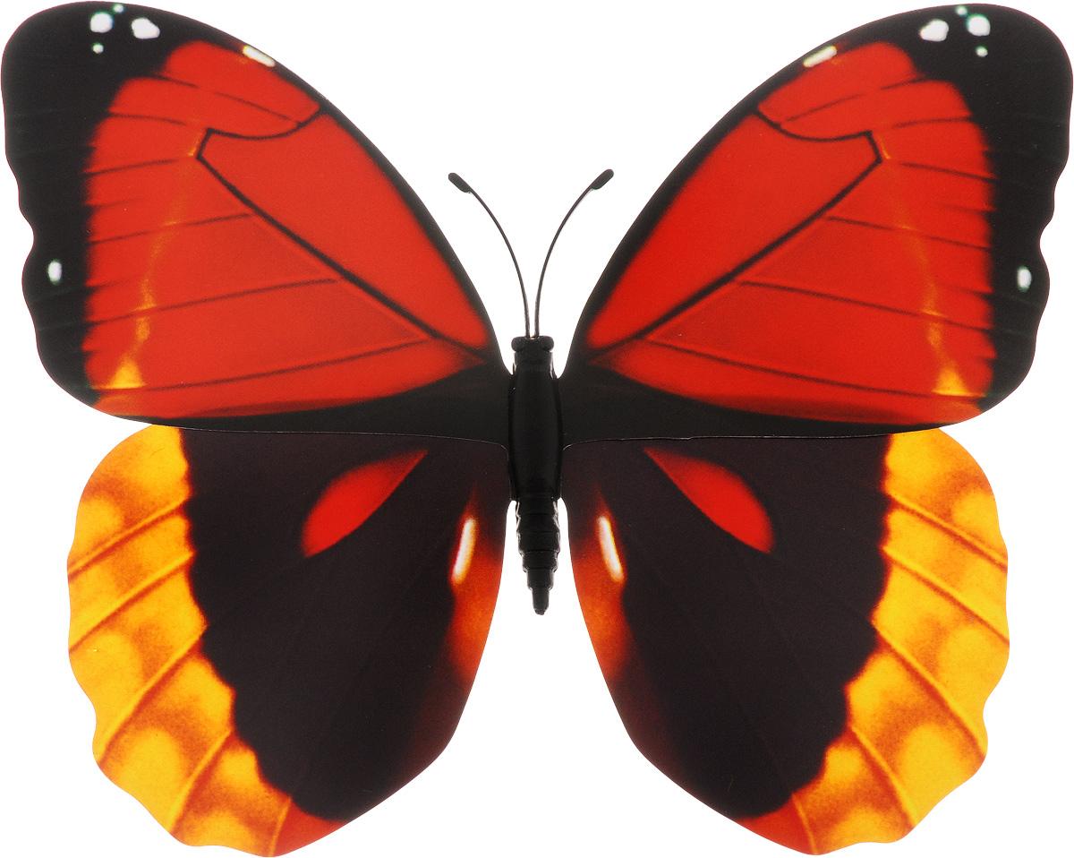 Декоративное украшение Village People Тропическая бабочка, с магнитом, цвет: красный, желтый, черный (22), 12 х 8 смБрелок для сумкиДекоративная фигурка Village People Тропическая бабочка изготовлена из ПВХ. Изделие выполнено в виде бабочки и оснащено магнитом, с помощью которого вы сможете поместить изделие в любом удобном для вас месте. Это не только красивое украшение, но и замечательный способ отпугнуть птиц с грядок. Яркий дизайн фигурки оживит ландшафт сада.