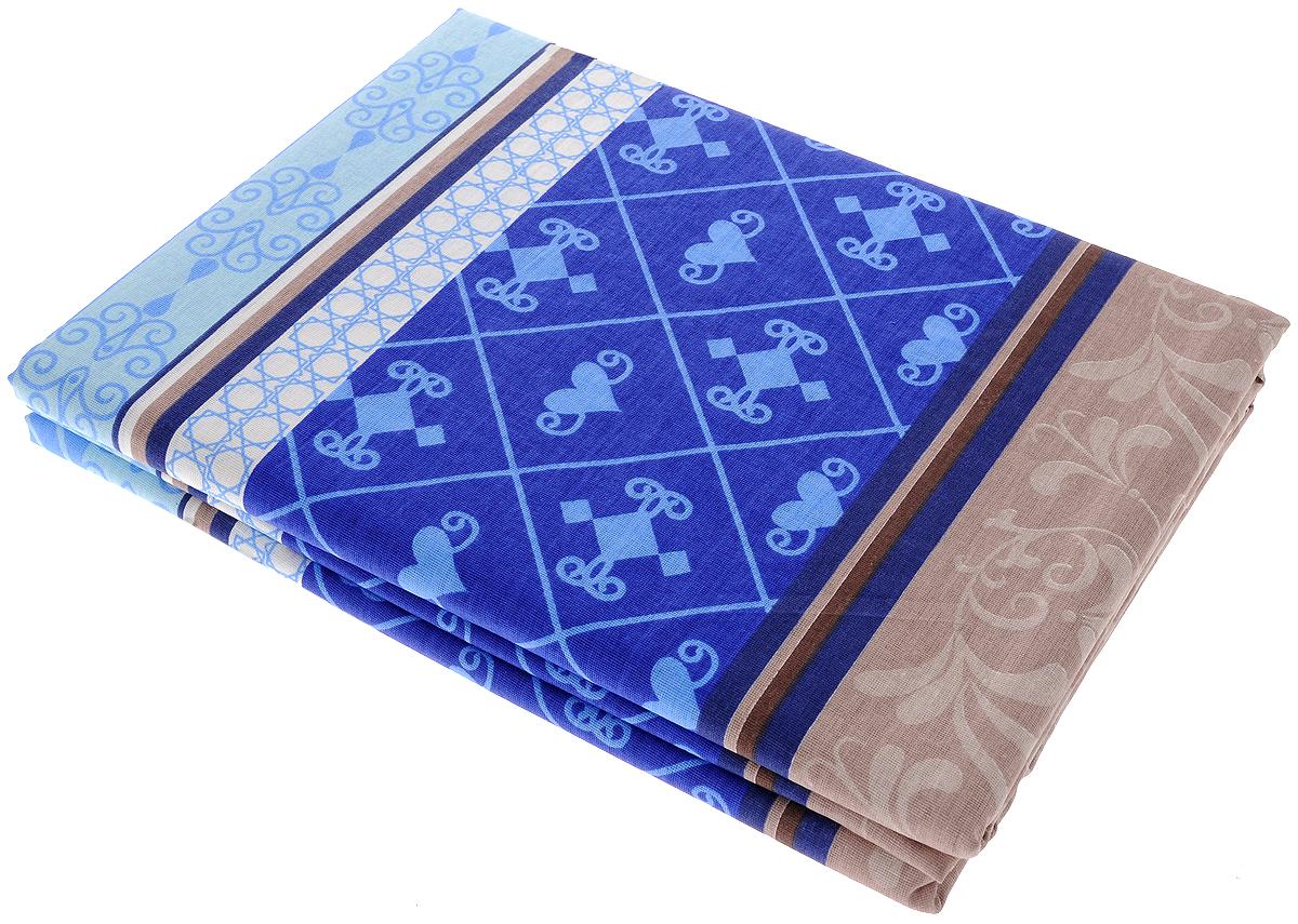 Комплект белья Олеся Летний комплект. Мавританский ажур, 2-спальный, наволочки 70х70, цвет: коричневый, синий391602Постельное белье Олеся Летний комплект. Мавританский ажур, оформленное оригинальным принтом, красиво дополнит интерьер спальни и подарит незабываемое чувство комфорта и уюта во время сна. Комплект состоит из двух простыней и двух наволочек. Комплект выполнен из бязи (100% хлопок). Бязь является одним из основных видов тканей, используемых для изготовления постельного белья. Эта ткань отличается высокой воздухопроницаемостью, мягкостью и нежностью, при этом она очень прочна, устойчива к истиранию и легко гладится. Приятная на ощупь бязь идеально подходит для комфортного и спокойного сна. Благодаря такому комплекту постельного белья вы сможете создать атмосферу уюта и романтики в вашей спальне.