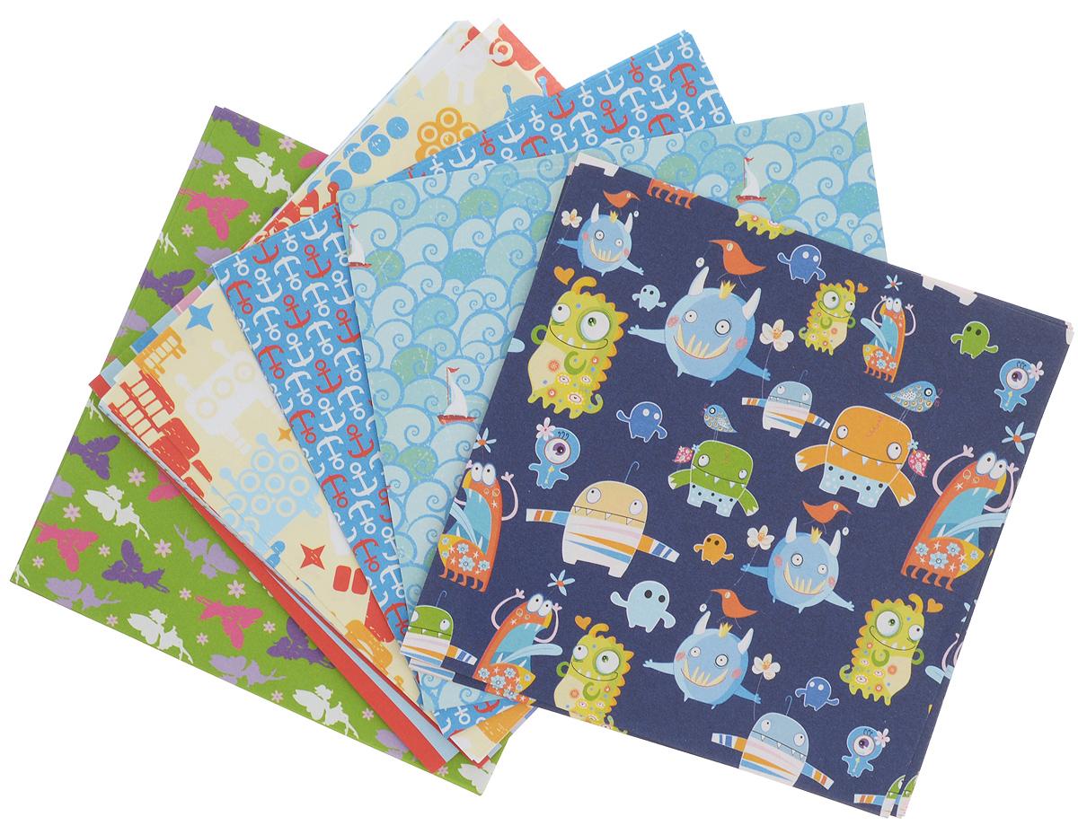 Бумага для оригами Folia Kids, 10 х 10 см, 50 листовRSP-202SНабор специальной цветной двусторонней бумаги для оригами Folia Kids содержит 50 листов разных цветов, которые помогут вам и вашему ребенку сделать яркие и разнообразные фигурки. В набор входит бумага 10 разных дизайнов. С одной стороны - бумага однотонная, с другой - оформлена оригинальными узорами и орнаментами. Эти листы можно использовать для оригами или для создания новогодних звезд. При многоразовом сгибании листа на бумаге не появляются трещины, так как она обладает очень высоким качеством. Бумага хорошо комбинируется с цветным картоном.За свою многовековую историю оригами прошло путь от храмовых обрядов до искусства, дарящего радость и красоту миллионам людей во всем мире. Складывание и художественное оформление фигурок оригами интересно заполнят свободное время, доставят огромное удовольствие, радость и взрослым и детям. Увлекательные занятия оригами развивают мелкую моторику рук, воображение, мышление, воспитывают волевые качества и совершенствуют художественный вкус ребенка.Плотность бумаги: 80 г/м2.Размер листа: 10 х 10 см.