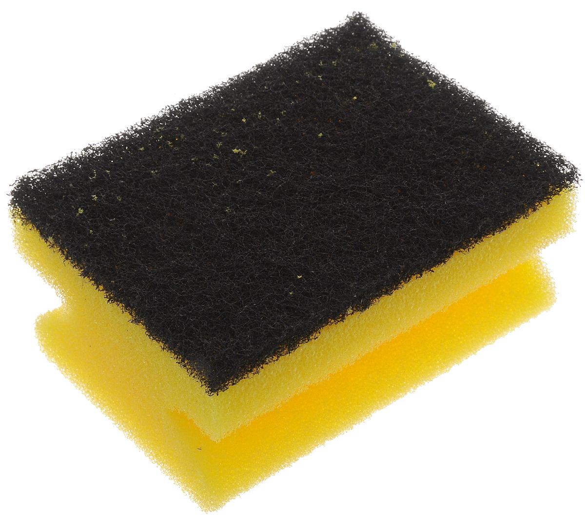 Губка для мытья посуды Paterra Super Aktiv, с лавсаном, 9,5 х 7 х 4,5 смK100Губка Paterra Super Aktiv выполнена из полиуретана с абразивным слоем с вкраплениями из лавсана для увеличения чистящего эффекта. Губка не деформируется и не крошится при нагрузках. Специальный клеевой шов не позволяет слоям отслаиваться в процессе использования. Губка предназначена для мытья стойких загрязнений на посуде.