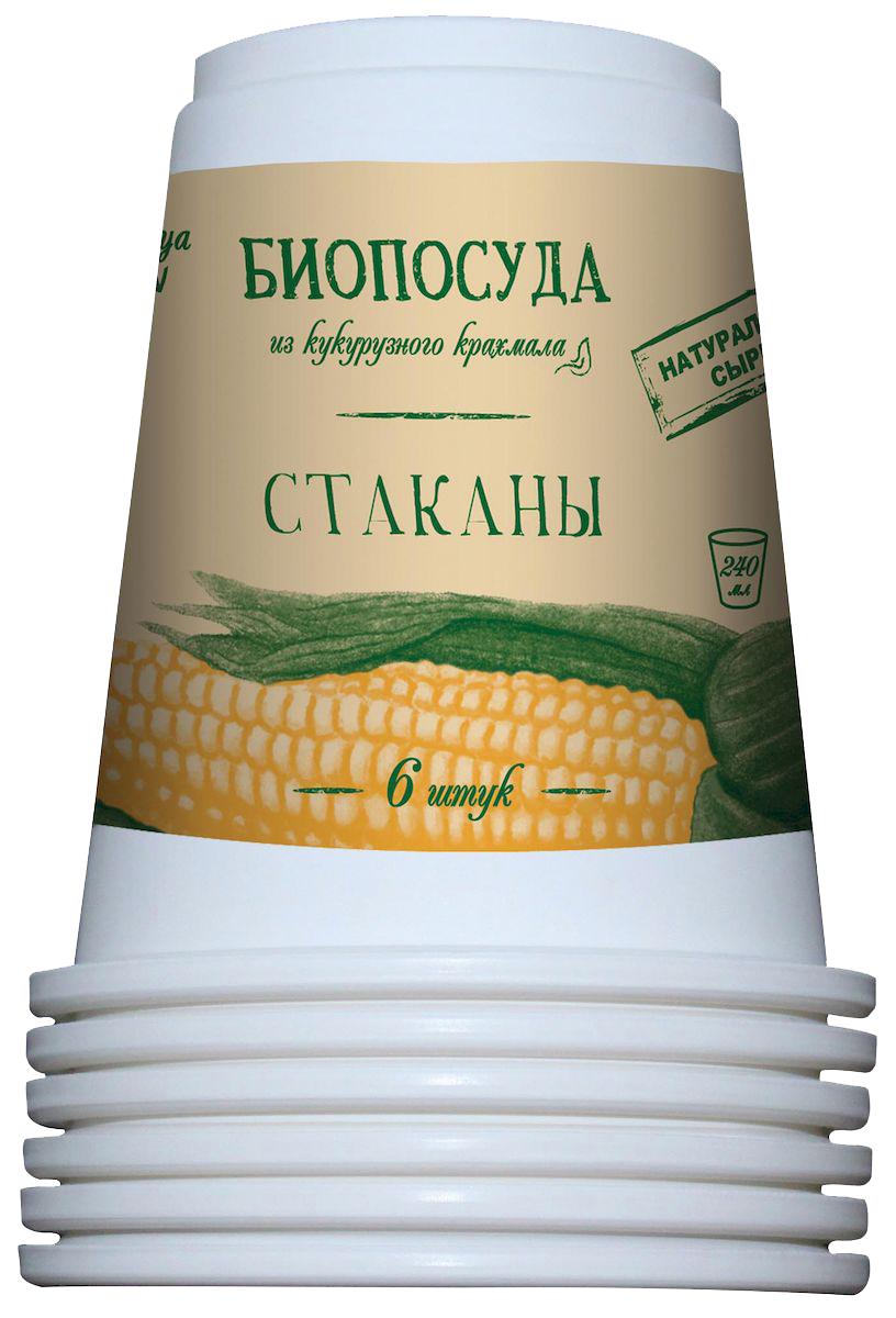 Набор одноразовых стаканов Nova Toriya, 240 мл, 6 штFA-5125 WhiteБезвредна для человека и окружающей среды