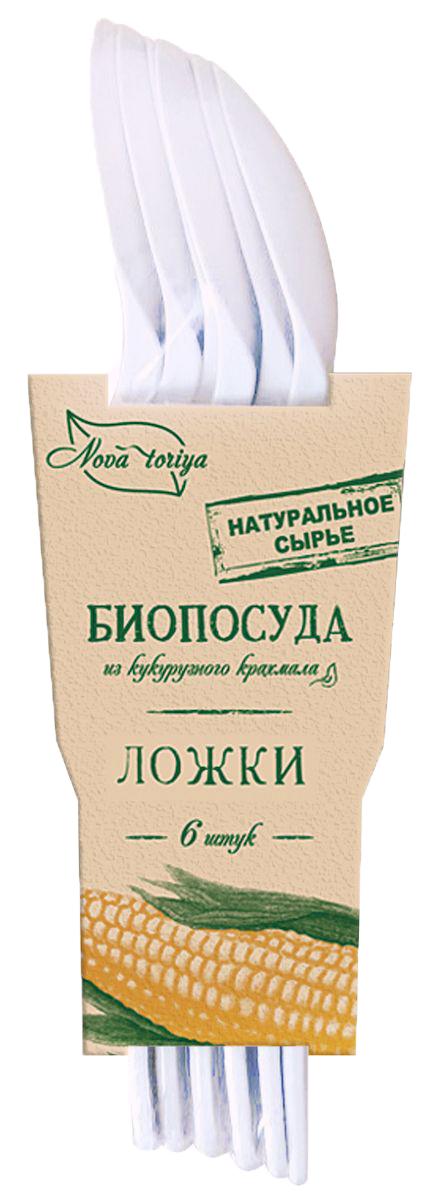 Набор одноразовых ложек Nova Toriya, длина 16 см, 6 шт163825Безвредна для человека и окружающей среды