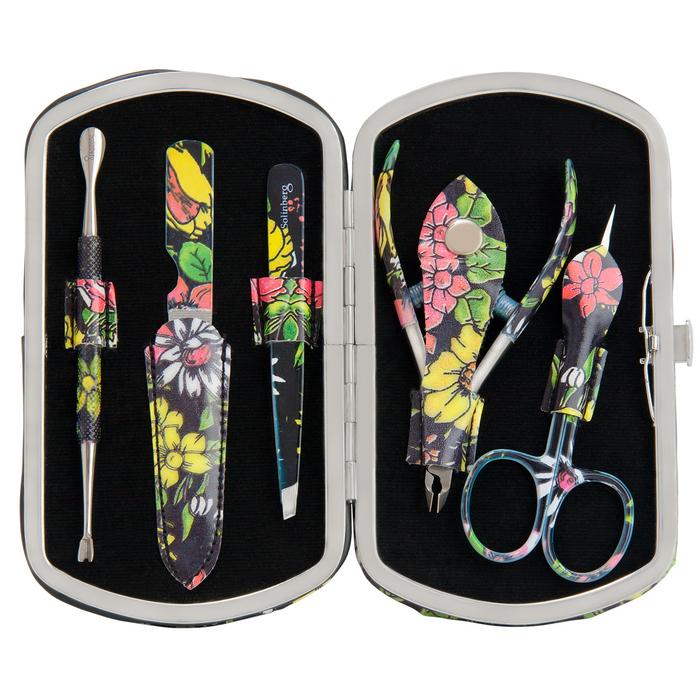 Маникюрный набор Solinberg Comfort Line PD13 Цветы, 5 предметов (серебро), футляр - экокожа4630003365187Маникюрный набор Solinberg Comfort Line PD13 Цветы, 5 предметов (серебро), футляр - экокожа.
