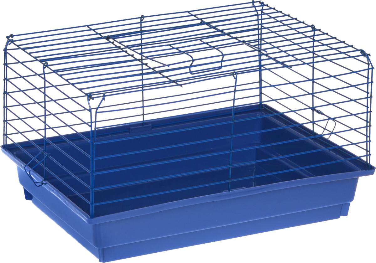 Клетка для кролика ЗооМарк, цвет: синий поддон, синяя решетка, 50 х 35 х 30 см0120710Классическая клетка ЗооМарк со сплошным дном станет уединенным личным пространством и уютным домиком для кролика. Изделие выполнено из металла и пластика. Клетка надежно закрывается на защелки. Легко чистится. Для более удобной транспортировки клетку можно сложить.