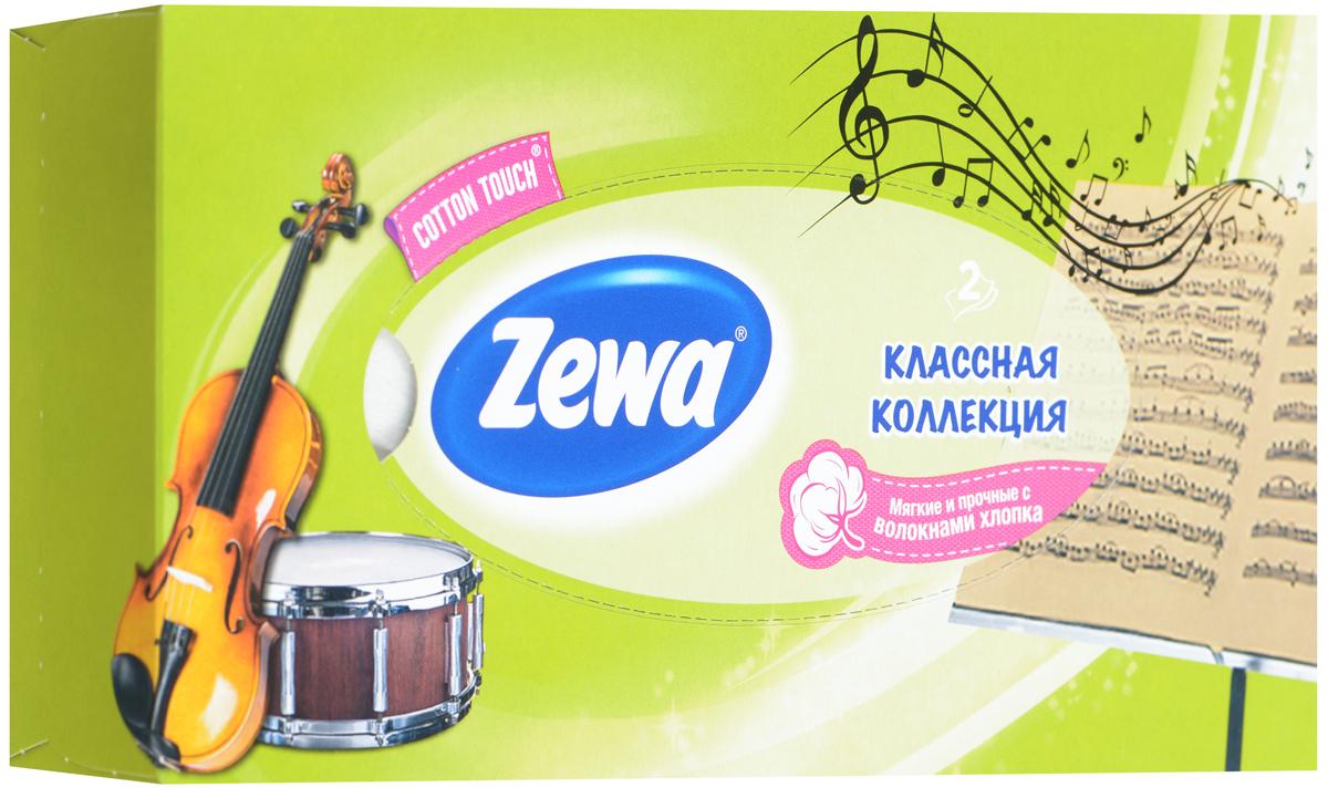 Zewa Платки косметические в коробке Everyday, двухслойные, цвет: зеленый, барабан, гитара, 100 шт140814757_зеленый