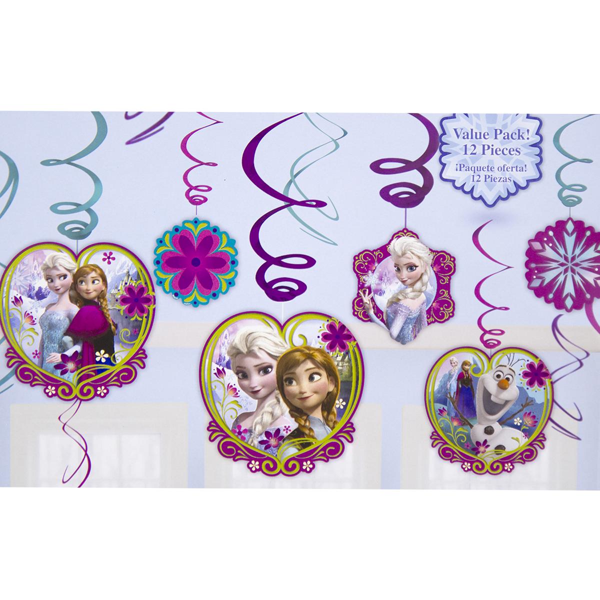 Веселая затея Спираль Холодное Сердце 12 штC0038550Приближается день рождения или другая знаменательная дата? Создать праздничную атмосферу в доме поможет украшение-спираль Холодное Сердце. Каждая спираль снабжена колечком для крепления к потолку или стене.В наборе 12 разноцветных украшений.